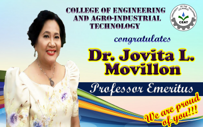 Dr. Jovita Movillon of CEAT is the newest Professor Emeritus of UPLB