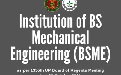 Institution of CEAT-UPLB BSME Program