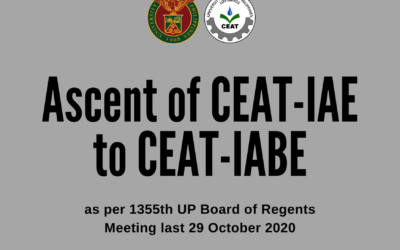 Ascent of CEAT-IAE to CEAT-IABE