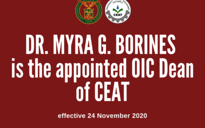 Dr. Borines appointed CEAT OIC Dean