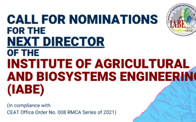Call for Nominations for the next Director of the Institute of Agricultural and Biosystems Engineering (IABE)