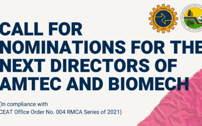 Call for Nominations for the next Directors of AMTEC and BIOMECH